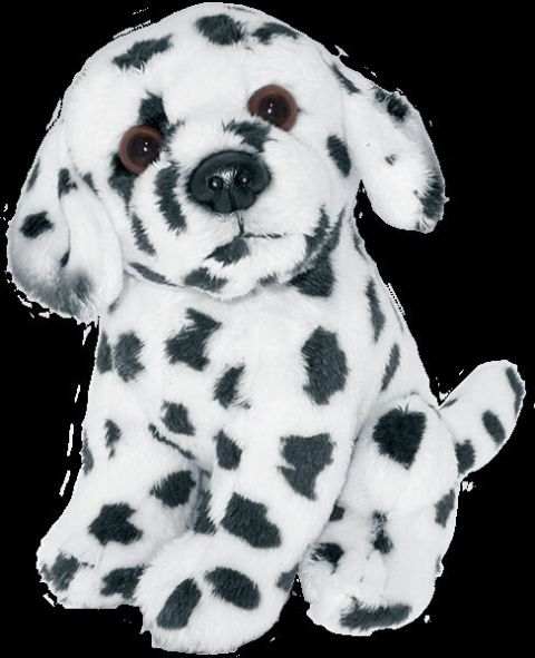 Dalmation puppy dog sitting Cuddly toy 6.5""